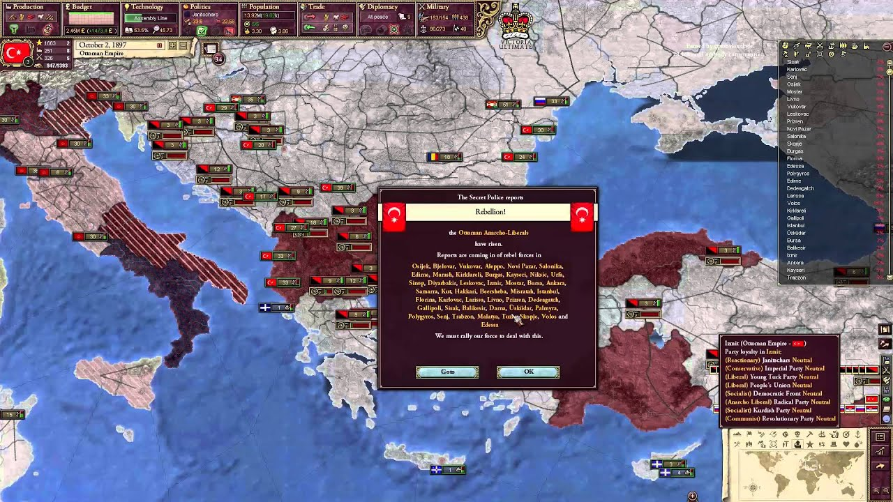 Kayseri Map%0A Victoria   East and West Roman Empire Ultimate Mod Part