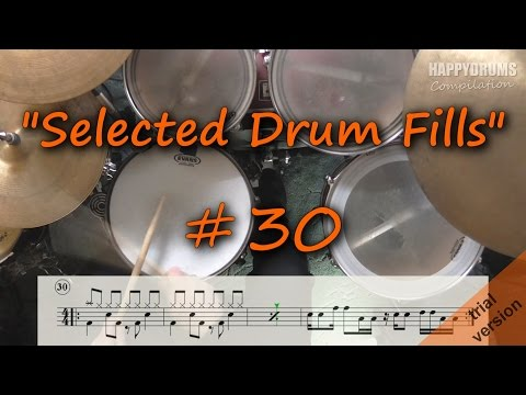 Selected Drum Fills  (Beginner - Intermediate)  # 30 [Happydrums Compilation]