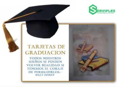 TARJETAS DE GRADUACIÓN 2015 - YouTube