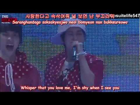 B1A4 - OK [MTV The Show] (11.06.10) {Hangul, Romanization, Eng Sub, Fanchants}