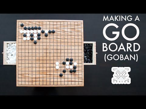 How To Make A Go Board // Goban // Go Game // DIY Go Board // Woodworking