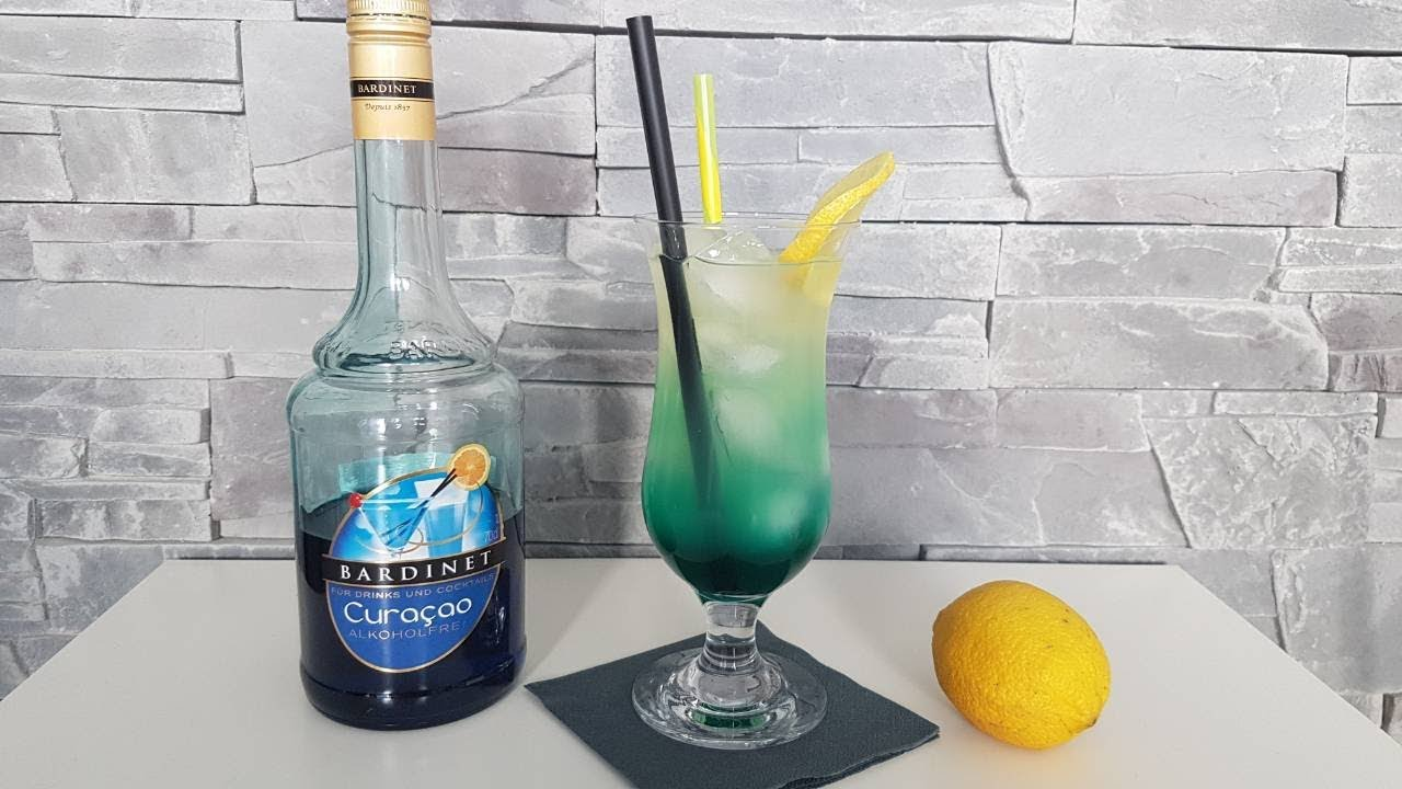 Blue Curacao Cocktail Alkoholfrei Blue Lemon Cocktail Alkoholfreier Cocktail Mit Blue Curacao