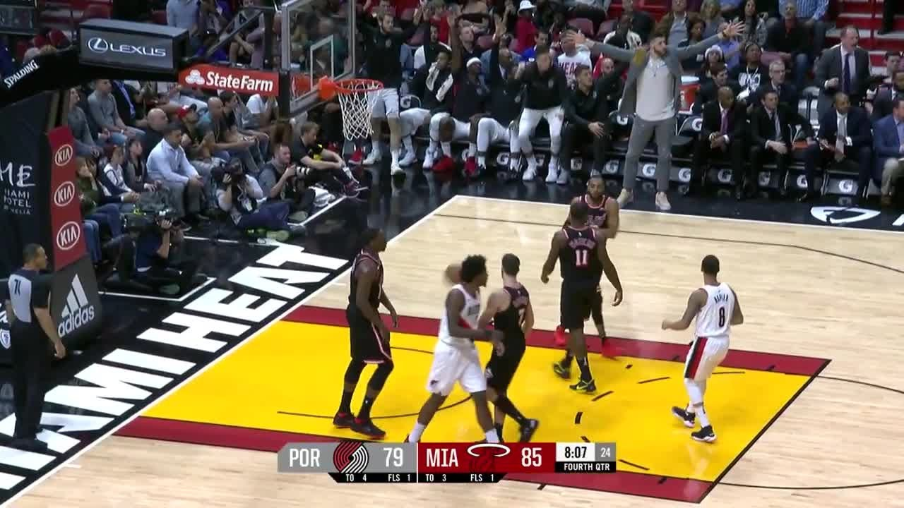 Al-Farouq Aminu Posts 15 points & 13 rebounds vs. Miami Heat | December 13, 2017