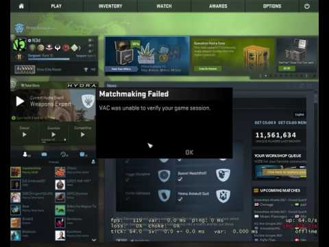 Csgo cannot connect to matchmaking servers