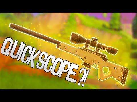 Bolt Action Sniper... Quickscope?! | Fortnite Battle Royale