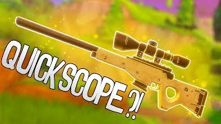 Bolt Action Sniper... Quickscope?! | Fortnite Battle Royale