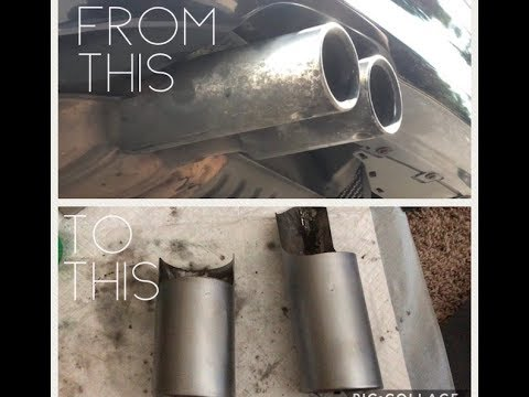 BMW E90 Exhaust Tip Removal and Cleaning