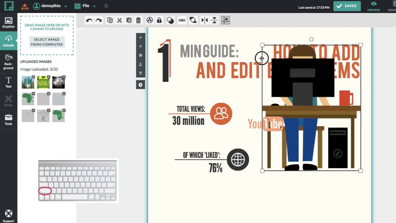 How To Add Items Icons Images Text Your Infographic In Piktochart