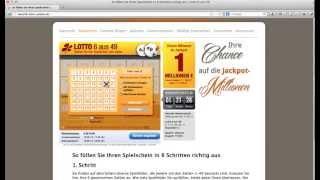 LOTTO Anleitung - 6 aus 49 - Richtig Lotto online spielen