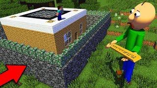 БАЛДИ ПРОТИВ САМЫЙ ЗАЩИЩЕННЫЙ ДОМ В МАЙНКРАФТ троллинг нуба Minecraft Мультик для детей