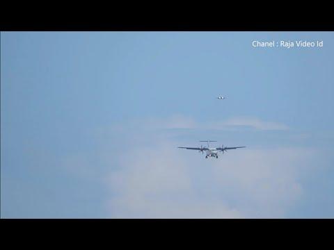 Wings Air dan Lion Air Landing Berurutan di Bandara Ngurah Rai Bali