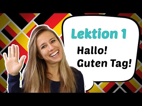 GERMAN LESSON 1: Learn German for Beginners - German Greetings 🤗