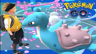 Wild Rare LAPRAS Got Caught w/ Epic Max Pokemon Gym Battle - Pokemon Go