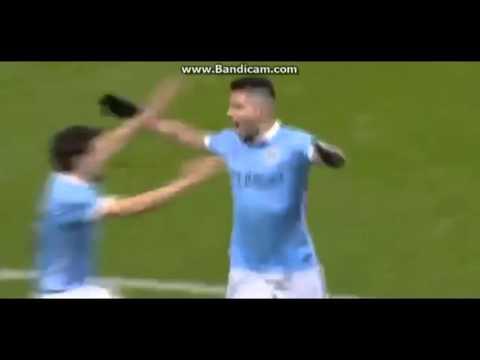 Sergio Aguero GOAL | Manchester City vs Everton | 3-1 | 27/01/16