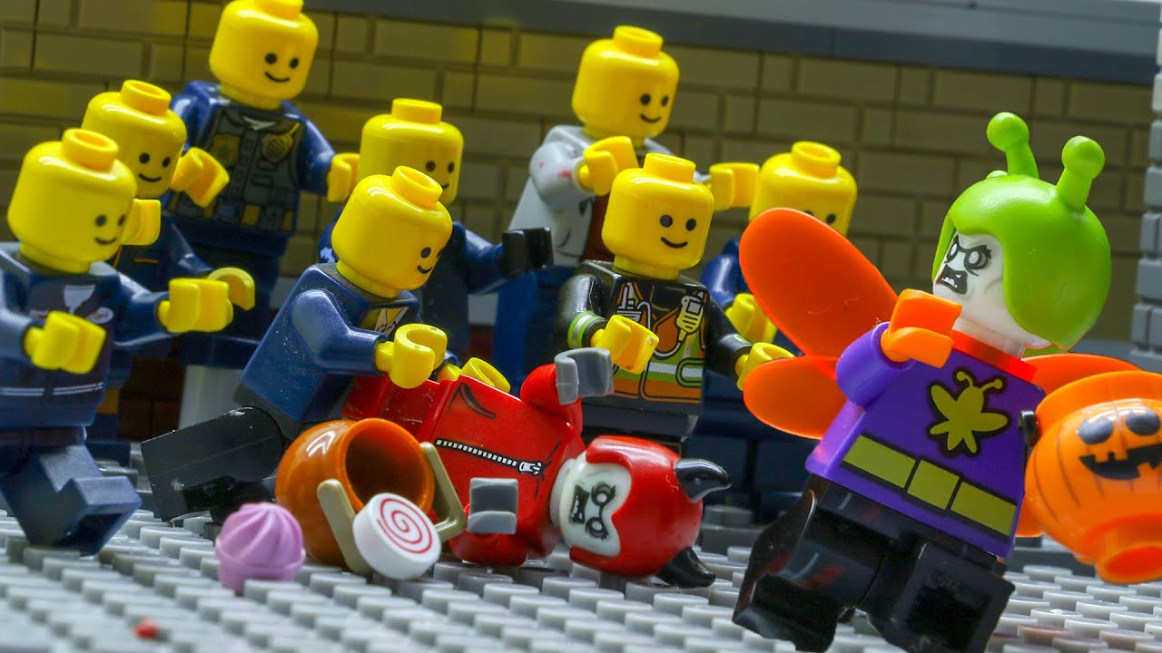 LEGO Land | Lego Zombie Halloween Night | Human Apocalypse | Lego Stop Motion