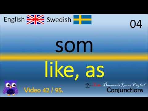 42 Conjunctions konjunktioner Svenska - Engelska Ord / Swedish - English Words