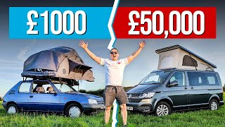 £1000 Camping Car Vs £50,000 Camper Van!