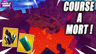 Race to Death on Lava! Fortnite Saving the World