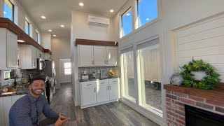 Mega Impressive Raised Sidewall Tiny Home With Mini Picture Windows Throughout