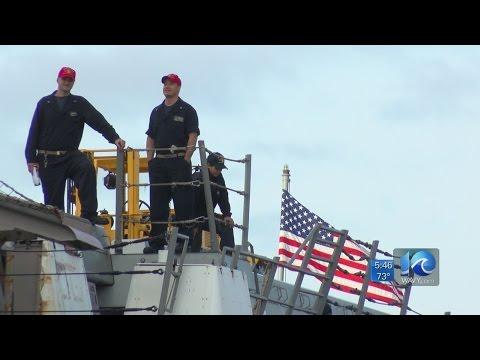 USS Mesa Verde returns home from Matthew relief work in Haiti
