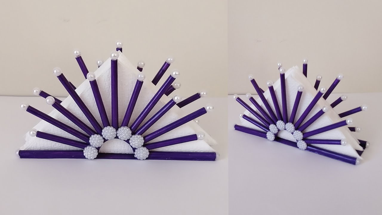 ATIK KAĞITTAN Peçetelik Yapımı / Paper Napkin Holder Ideas - Paper Crafts