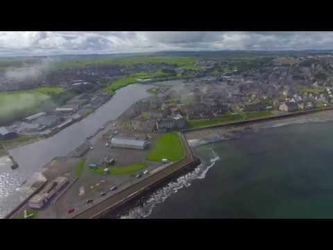 Thurso Coastline Caithness 4K 20th March 2018