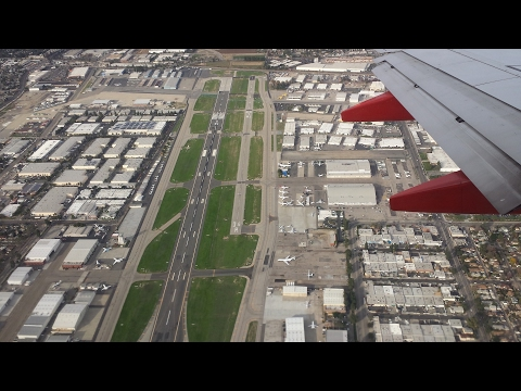Descent and Landing at Hollywood Burbank Airport on Southwest Airlines WN 2342