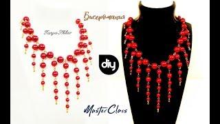 шикарное Колье из Бусин и Пинов Мастер Класс! Ожерелье из бусин и пинов своими руками/Beebeecraft