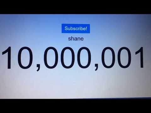 Shane Hitting 10 Million Subscribers - LIVE SUB COUNT