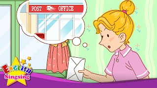 [Where] Where's the post office? It's over there (Asking the way) - Easy Dialogue - English for Kids