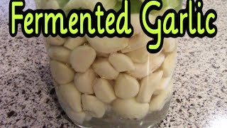 Fermented Garlic - Preserving Garlic with Fermentation