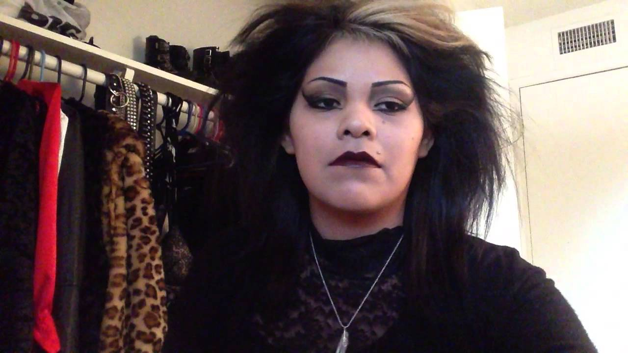 80 S Traditional Goth Teased Hair Youtube