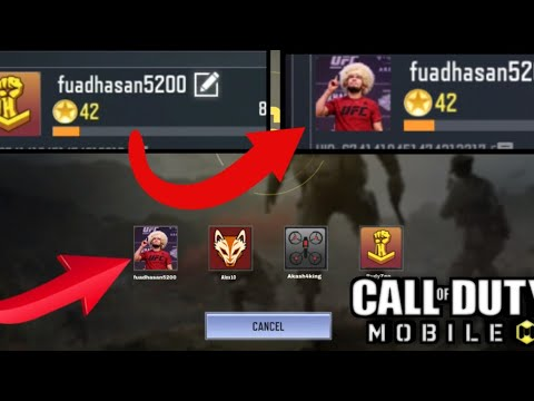 How To Change Call Of Duty Mobile Profile Picture Youtube