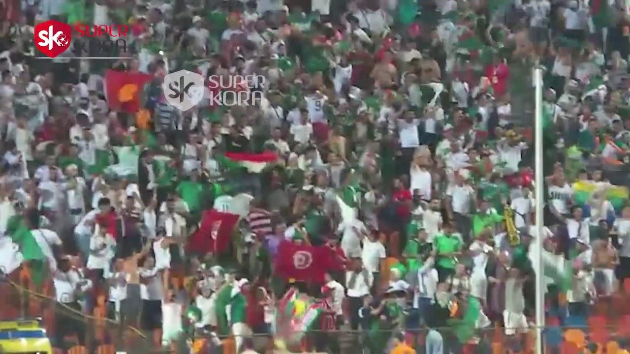 اليوم السابع :فرحة جماهير الجزائر بهدف التقدم على نيجيريا