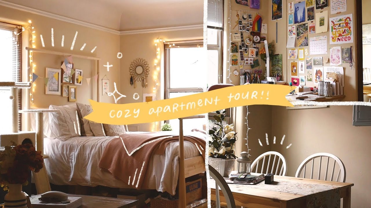 My Studio Apartment Tour Cozy Warm And Colorful