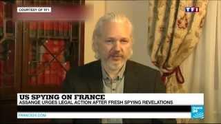 FRANCE - Assange calls for legal action after US spying revelations #FranceLeaks