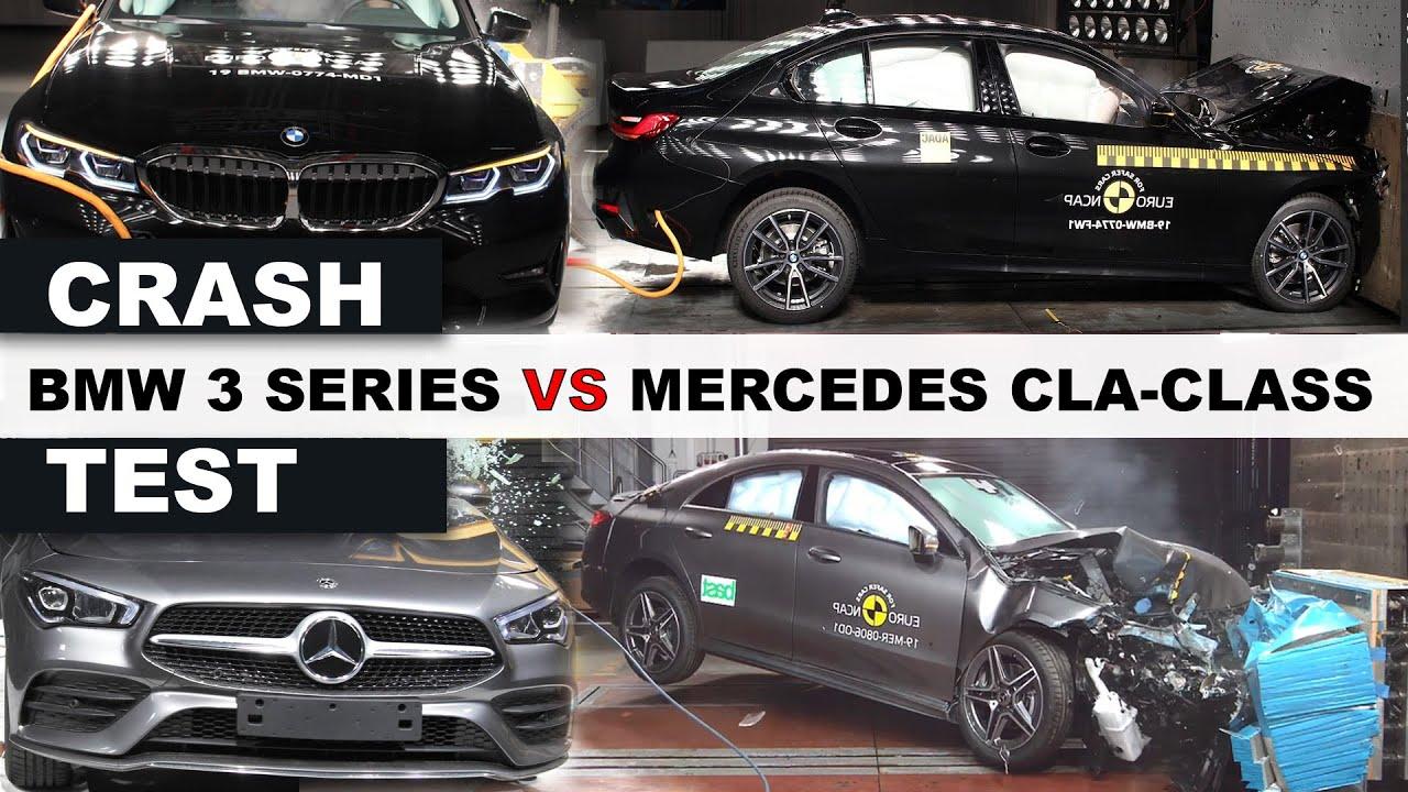 Crash Test bmw 3 series vs Mercedes Benz CLA class 2019 - 2020 with top gear