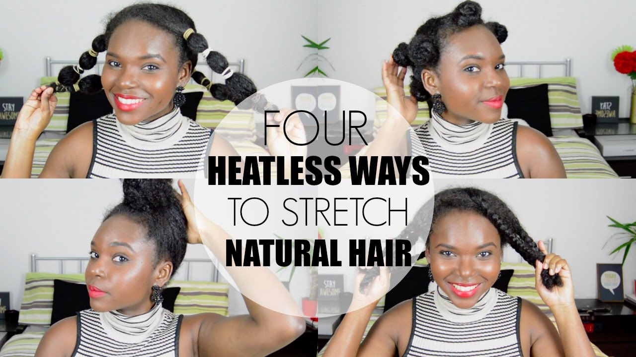 How To Stretch Natural Hair Without Heat - YouTube