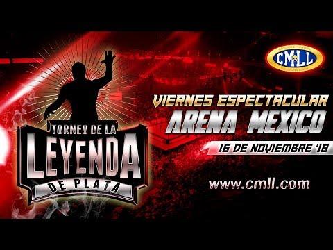 LUCHA LIBRE VIERNES ESPECTACULAR DE ARENA MEXICO 16 DE NOVIEMBRE  DE 2018 FUNCION COMPLETA