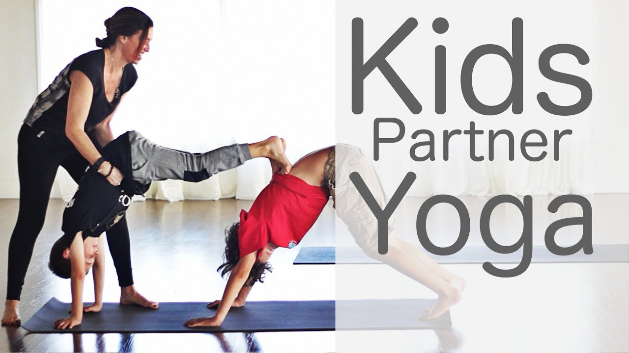 3 Minute Kids Partner Yoga | Fightmaster Yoga Videos