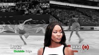 Evgenia MEDVEDEVA FLUTZ vs Yuna Kim Lutz Queen