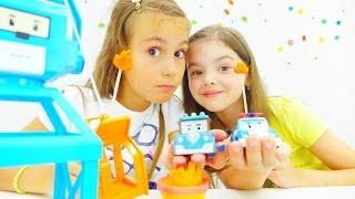 Видео для детей. Игрушечные машинки и Робокар Поли