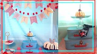 Airplane Theme Birthday Party // First Birthday