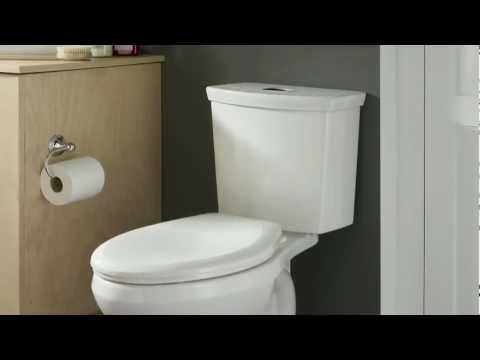 Toilets: H2Option Dual Flush Right Height Elongated Toilet By American Standard - New