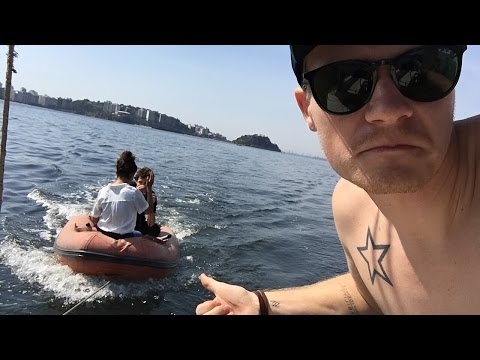 LIVE! On a boat in Rio!