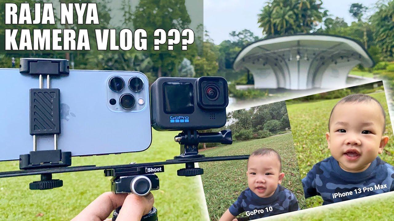SENJATA Buat NGEVLOG ?! iPhone 13 Pro Max vs GoPro Hero 10  | Singapore Botanic Gardens Vlog