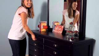 Black Map Drawer Dresser From Smartstuff Furniture