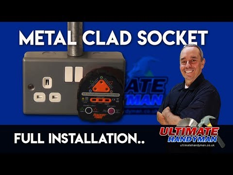 How to install a metal clad socket | Garage socket