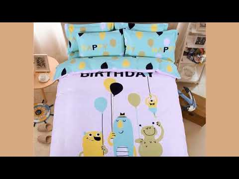 100% Cotton Dog Bulldog Kids Cartoon Bedding Set