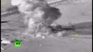 Опубликовано видео удара ВКС России по боевикам «Джабхат ан-Нусры»